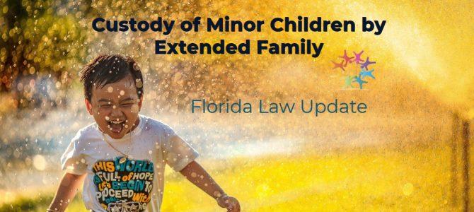 Custody of Children by Extended Family Member Including Fictive Kin