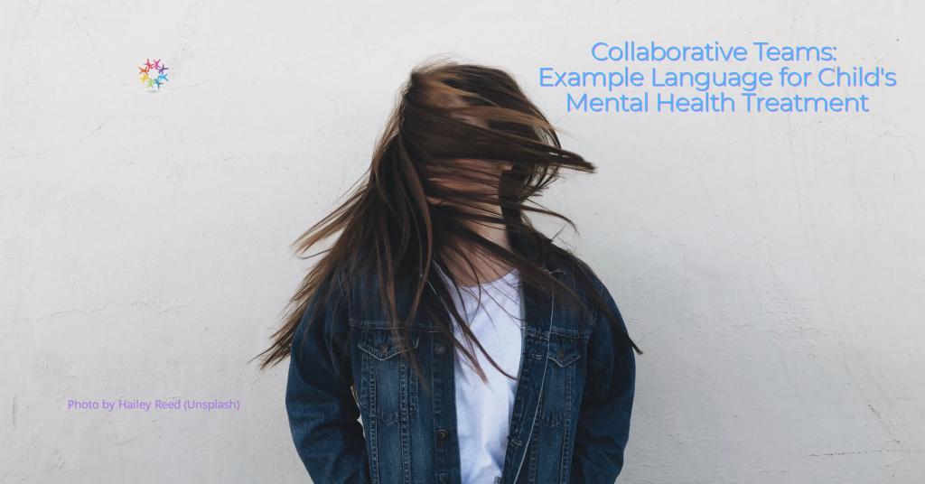 Collaborative Teams Example Language Mental Health Teenage Girl Shaking Long Brown Hair.